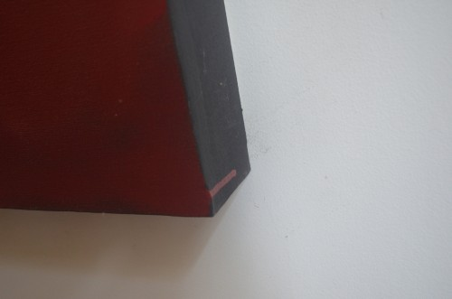 """THE (detail): 2"""" thick custom framing"""