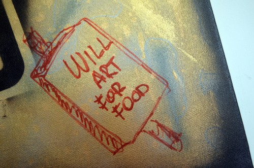 GREED (detail): WILL ART FOR FOOD